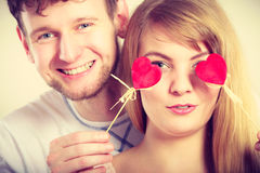Couple blinded by their love. Stock Photography