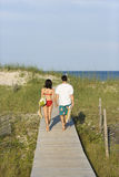 Couple on Boardwalk Royalty Free Stock Photos