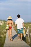 Couple on Boardwalk Royalty Free Stock Images