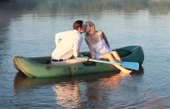 Couple in boat Royalty Free Stock Image