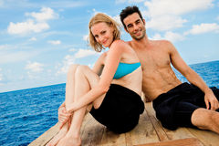 Couple  On Boat Royalty Free Stock Image