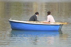 Couple in a boat Royalty Free Stock Photo
