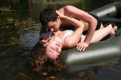 Couple in boat Royalty Free Stock Photos