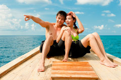 Couple On Boat Stock Photography