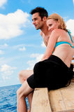 Couple  On Boat Royalty Free Stock Photos