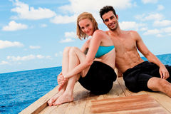Couple  On Boat Royalty Free Stock Images