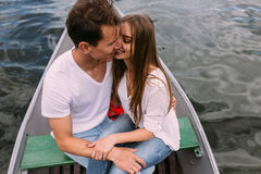 Couple in boat Royalty Free Stock Photography