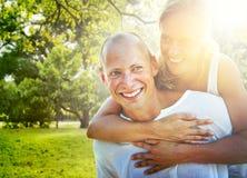 Couple Bonding Romance Holiday Concept Stock Photo