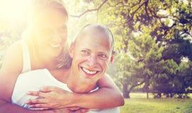 Couple Bonding Romance Holiday Concept Stock Photography