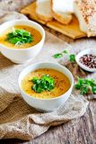 Homemade Carrot Soup Royalty Free Stock Images