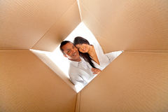 Couple in a box Royalty Free Stock Photo
