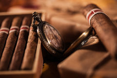 Couple boxes of fine cigars - a great gift from best friend Royalty Free Stock Photo