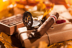 Free Couple Boxes Of Fine Cigars - A Great Gift From An Old Friend Royalty Free Stock Photography - 52644847