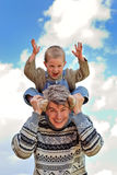 Couple of boy and young man Royalty Free Stock Image