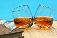 A couple of brandys outdoors Royalty Free Stock Photos
