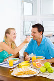 Couple breakfast Stock Image