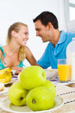 Couple breakfast Stock Photos