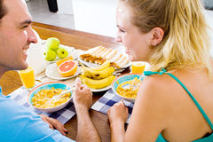 Couple breakfast Royalty Free Stock Image