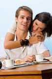 Couple At Breakfast Royalty Free Stock Photos