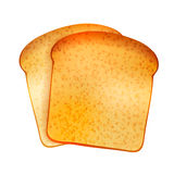 Couple of bright realistic tasty toasts on white Royalty Free Stock Image