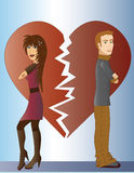 Couple with broken heart Stock Photo