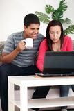 Couple browsing Stock Photo