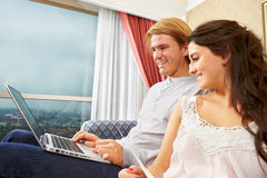 Couple browsing internet Stock Photography
