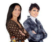 Couple of brunette girls Stock Photography