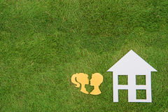 Couple build green homes, Green Living Stock Images