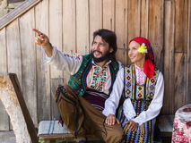 Couple in Bulgarian traditional dress Stock Image