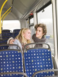 Couple on the bus Royalty Free Stock Images