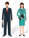 Couple of business male and female standing together. Business team concept. Stock Photography