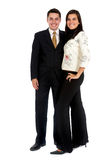 Couple of business people Royalty Free Stock Photos