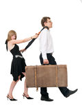Couple and business trip Stock Photography