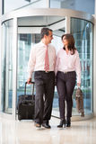 Couple on a business trip Royalty Free Stock Photos