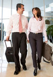 Couple on a business trip Stock Images