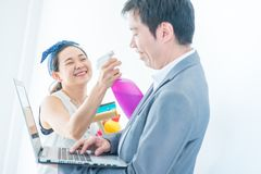 Couple buy a new home royalty free stock image