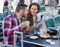 Couple buying ceramic Stock Photo