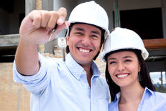 Couple buying a house Stock Image