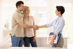 Couple buying new home Stock Images