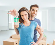 Couple buying their new house Stock Image