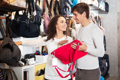 Couple buys some bags Royalty Free Stock Image