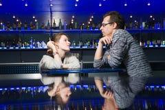 Couple in cafe Stock Photos
