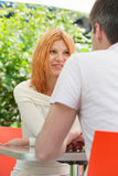 Couple in a cafe Royalty Free Stock Image