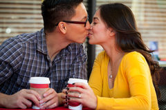 Couple cafe Stock Image