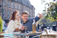 Couple Cafe Selfie Royalty Free Stock Photo