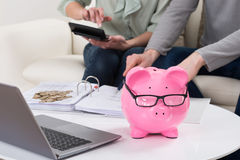 Couple Calculating Bills At Home Royalty Free Stock Photo
