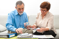 Couple calculating home finances Stock Photography