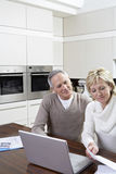 Couple Calculating Home Finances On Laptop Royalty Free Stock Photo