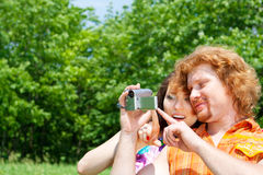 Couple with camcorder Stock Photos